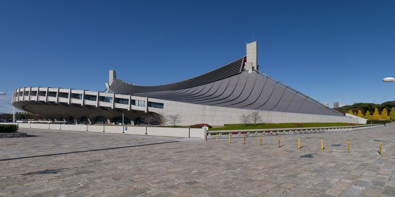 Yoyogi National Gymnasium, completed in 1964 to host Olympic aquatic events
