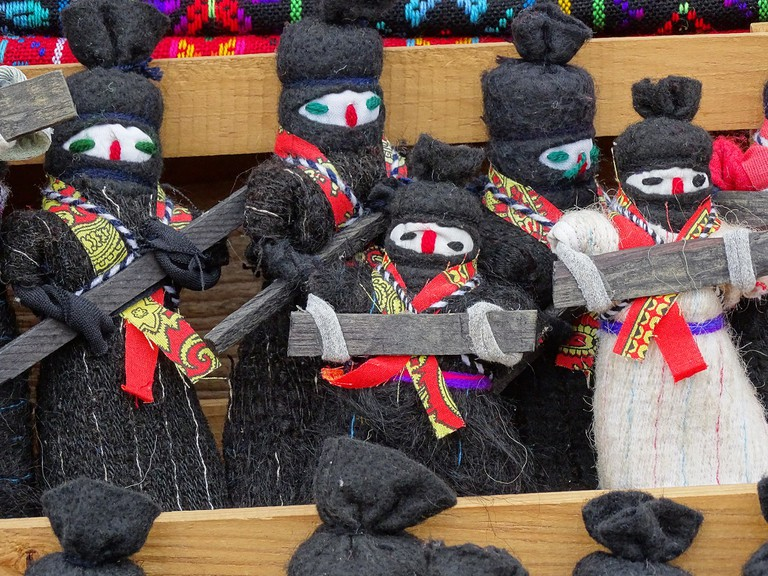 Zapatista dolls for sale in Chamula, Chiapas