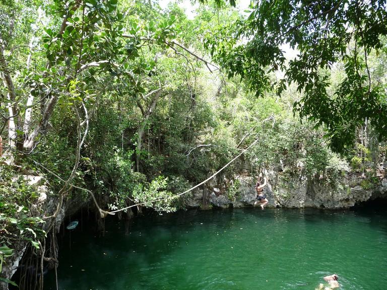 Cenote in Selvatica Park