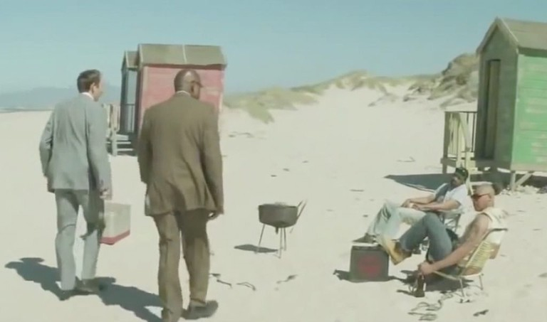 Beach scene from Zulu /