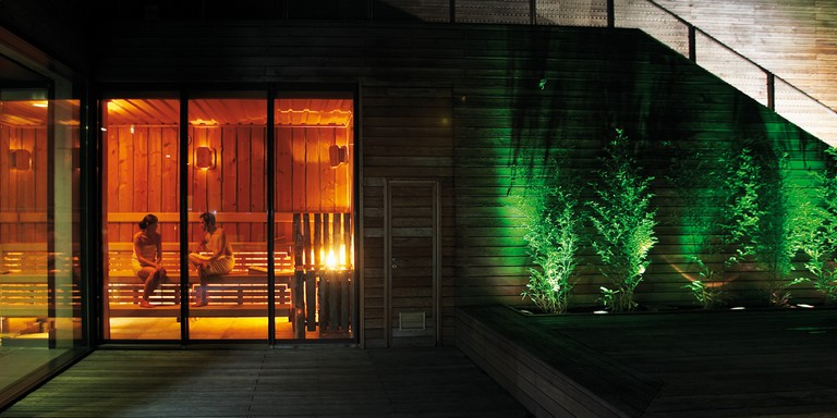 One of the saunas