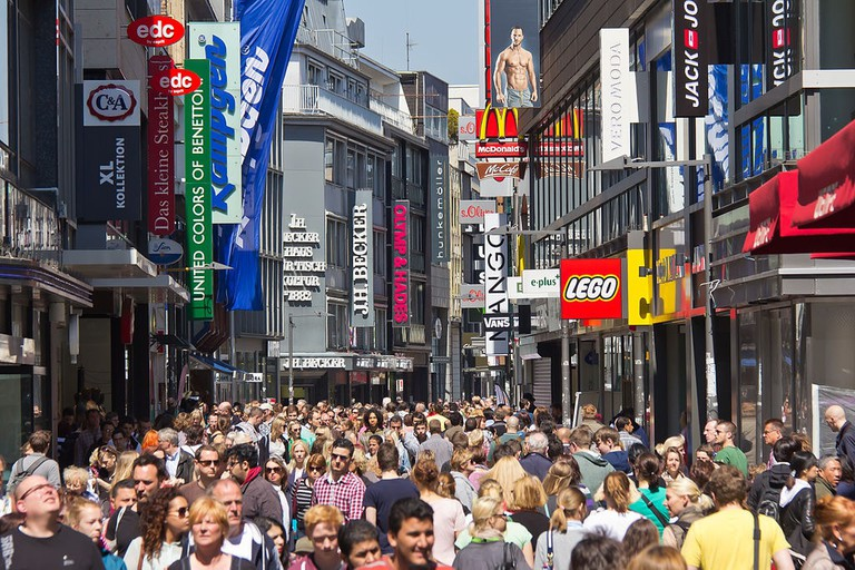 The pedestrian area in Cologne