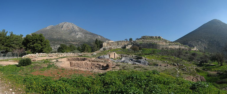 The ancient city of Mycenae, in Greece