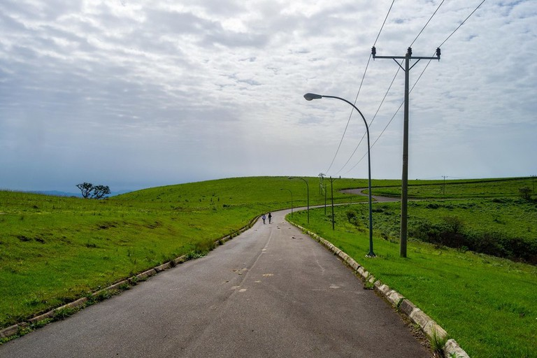 A road path along the Obudu plateau