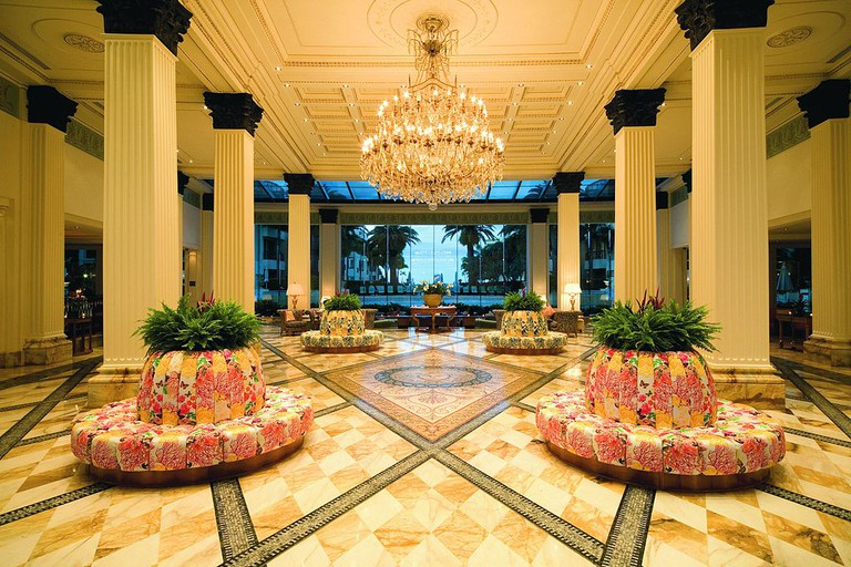 Lobby of the Palazzo Versace, Australia, gives an indication of how the Macau property will be styled.
