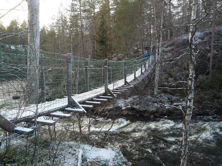 Hanging bridge in Oulanka / Timo Newton-Syms / WikiCommons