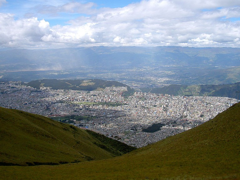 View of Quito from Pichincha