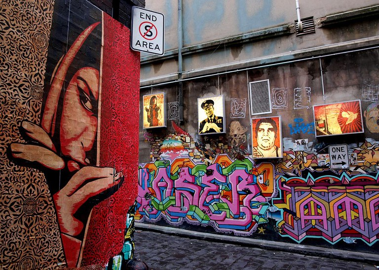 Shepard Fairey Hosier Melbourne