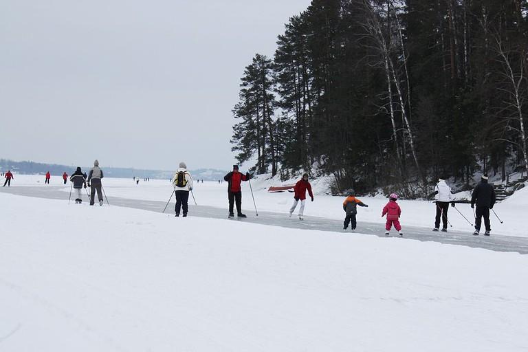 Nordic skaters in Finland