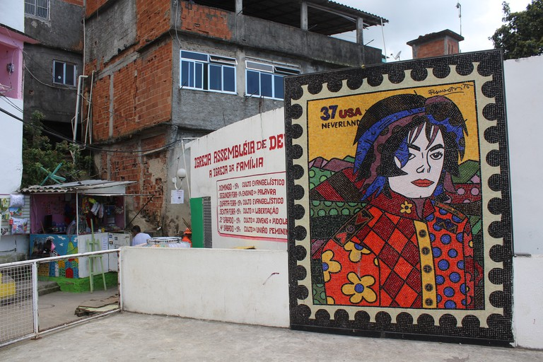 Michael Jackson mural in Santa Marta, Rio de Janeiro