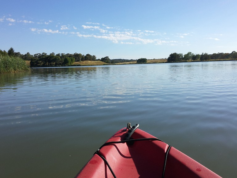Canoeing in the Outback
