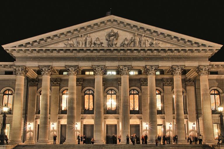 Munich Opera House at night