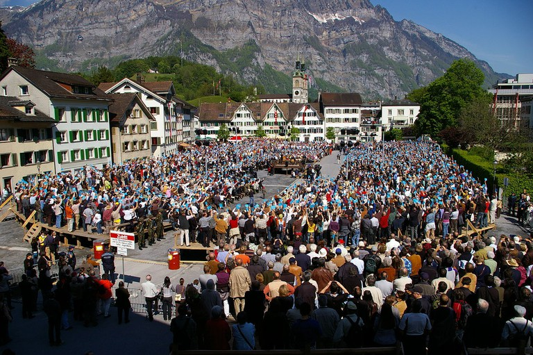 The Landsgemeind: How the Swiss used to vote and still do in some cantons