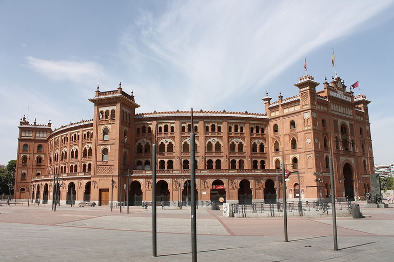 Façade of Las Ventas Bullring in Madrid