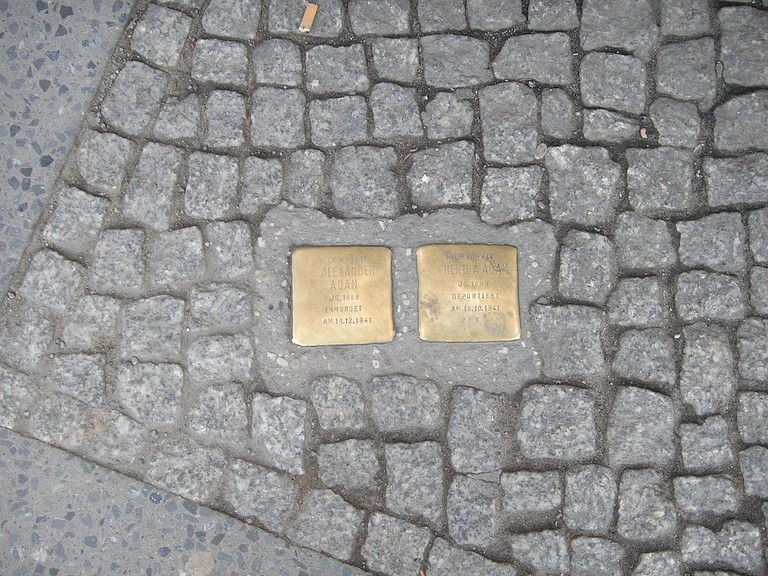 Stolpersteine for Hertha and Alexander Adam, Berlin