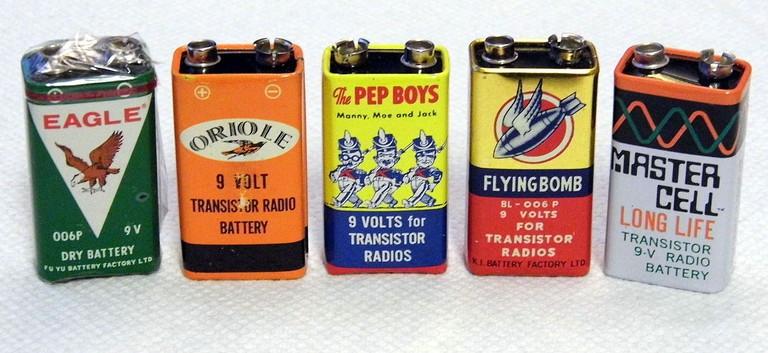 Vintage Transistor Radio 9 Volt Batteries