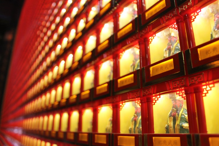 Tiny Buddhas at Guangong Temple