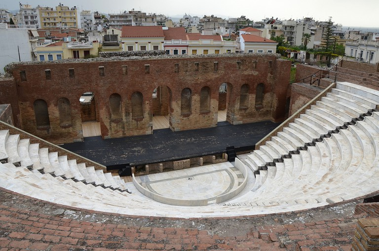The recently restored Roman Odeon of Ancient Patrai, built before 160 AD, Patras, Greece
