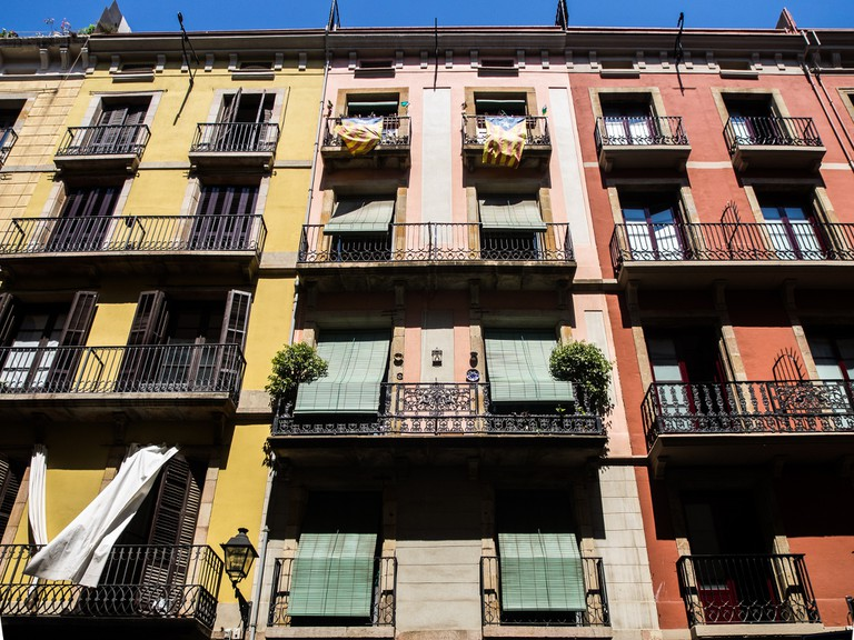 Traditional apartments in Barcelona © Ajay Suresh