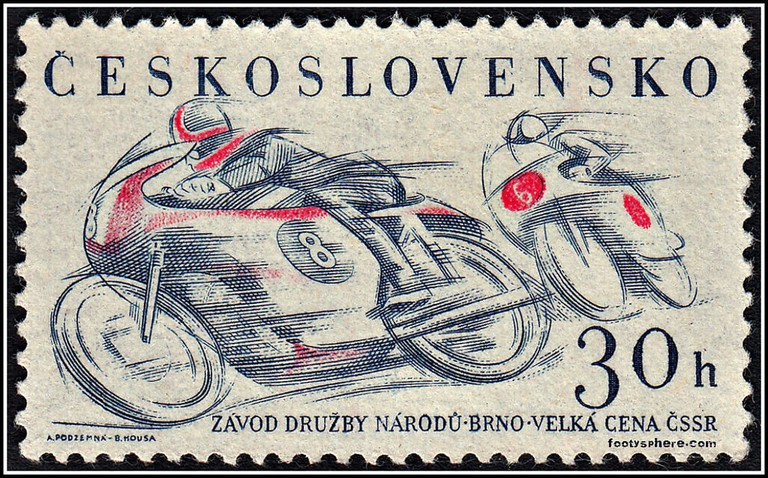 An old stamp from the 1960's, when Czechoslovakia was still a country. Today, it no longer is.