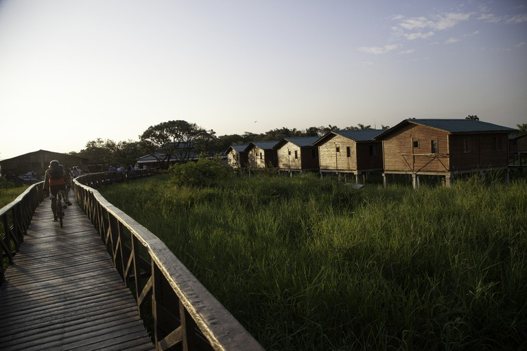 Cabins at Isla Santay