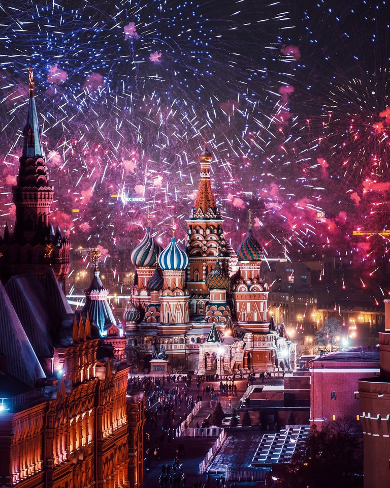 Fireworks on the Red Square I