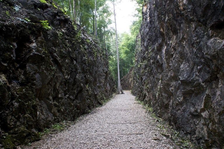 Section of the Hellfire Pass, carved through stone