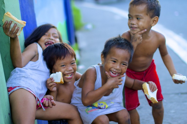 Happy Kids on the Streets of Manila