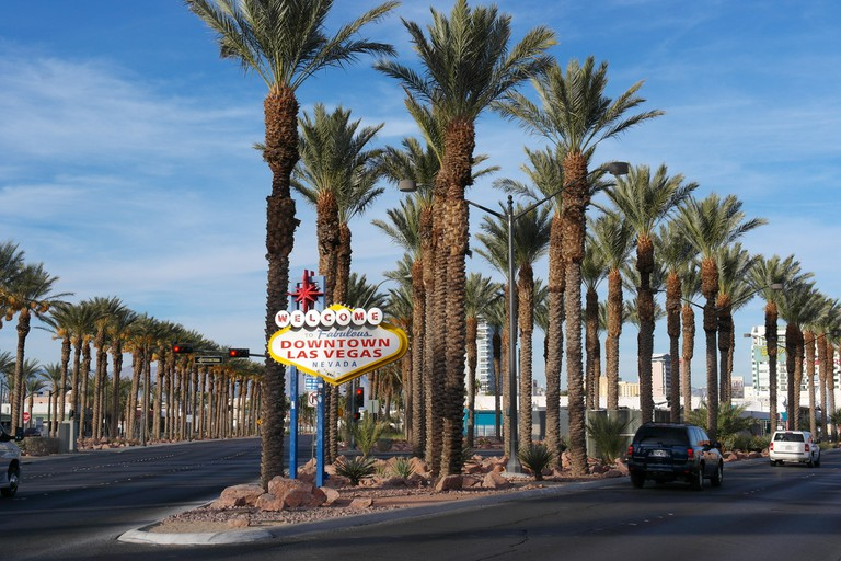 This famous site is actually in Paradise, Nevada | © S Pahkrin/Flickr