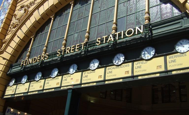 The clocks at Flinders Street station