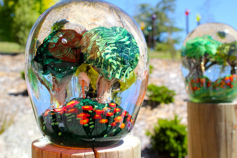 Lava Glass Studio Garden in Taupo, New Zealand