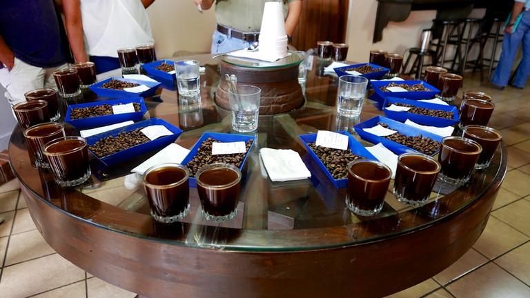 Coffee tasting in Antigua