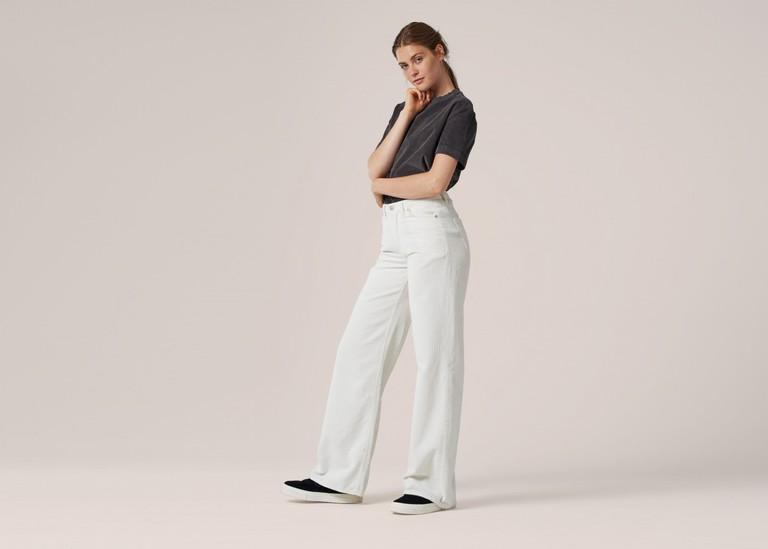 Wide Leg Corduroy Pants, $160.00