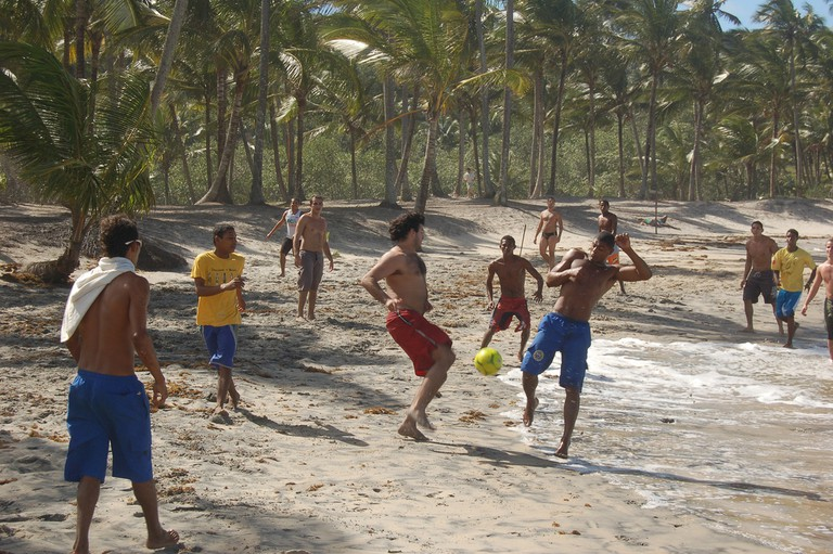 Beach football on Praia do Prainha