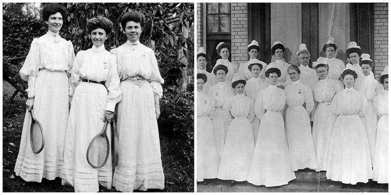 Women in white