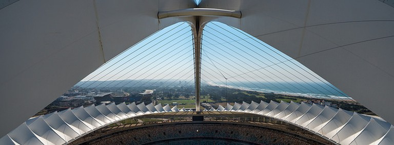 The arch at the Moses Mabhida Stadium offers spectacular views of Durban