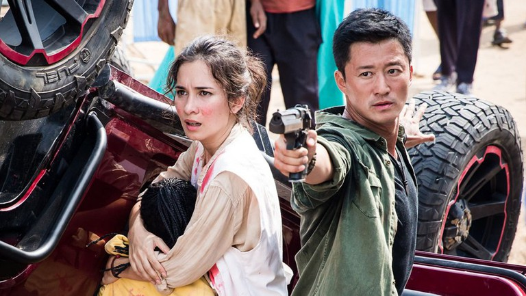 Celina Jade and Wu Jing in 'Wolf Warrior II' | © The H Collective