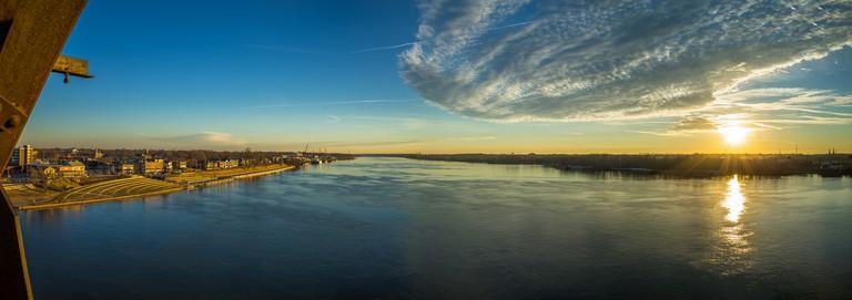Panoramic Sunrise over Kentucky and Indiana