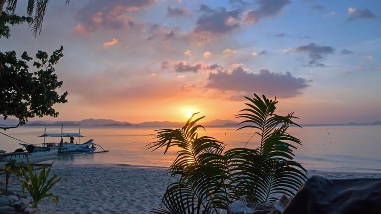 Sunset at Port Barton, Palawan