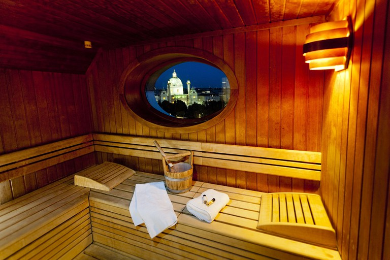 The beautiful sauna of the Ring Hotel