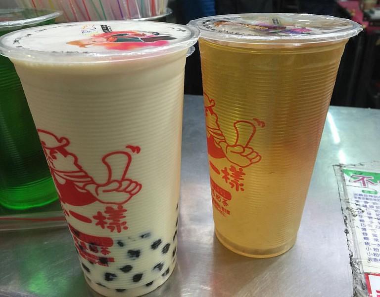 Pearl Milk Tea and Green Tea