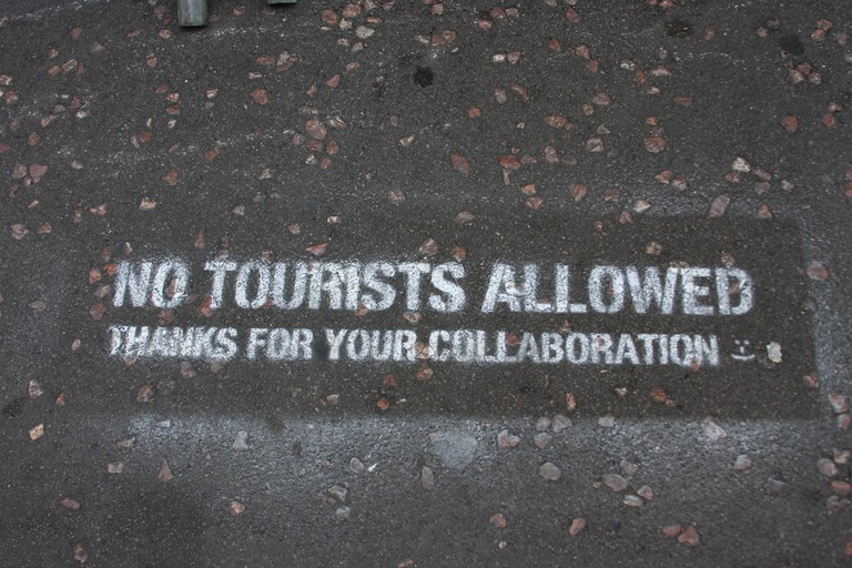 Anti-tourist graffiti in Barcelona