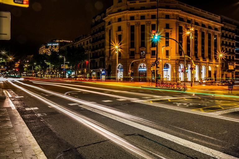 The Passeig de Gràcia at night © Jean-Paul Navarro