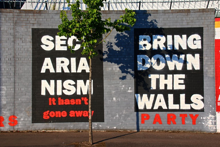 An Anti-Sectarian Mural on Northumberland Street