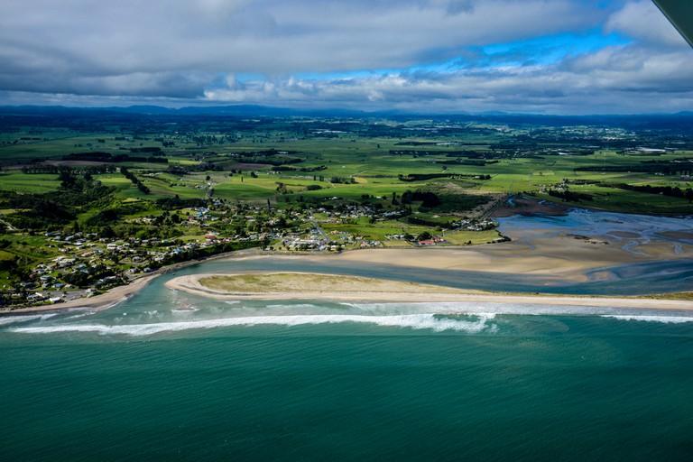Aerial View of Maketu, Bay of Plenty