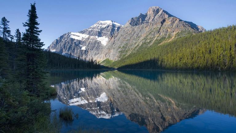 Cavell Lake in Jasper National Park