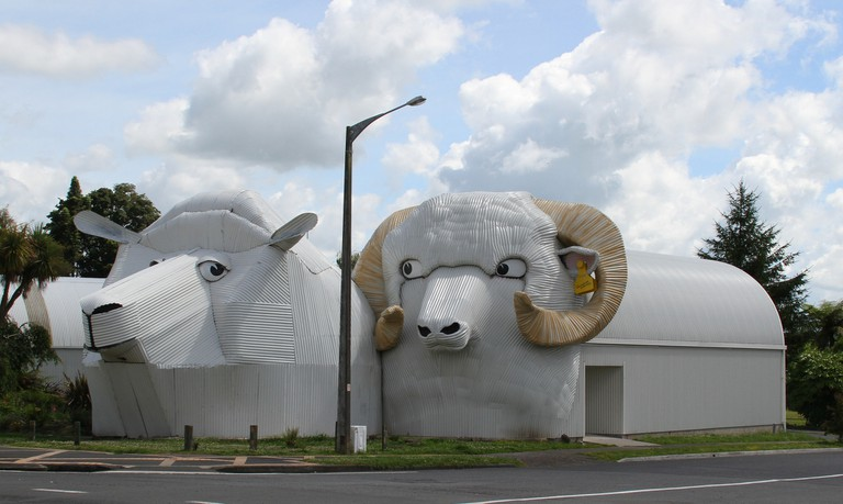 Giant Corrugated Sheep in Tirau