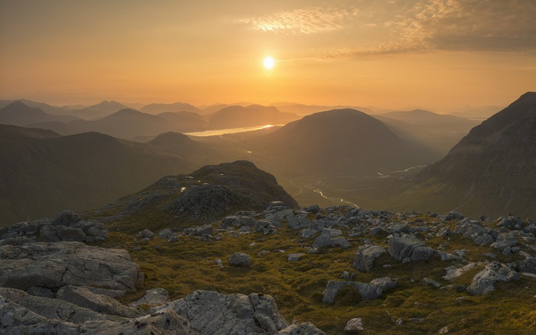 Sunrise Viewed From Buachaille Etive Beag