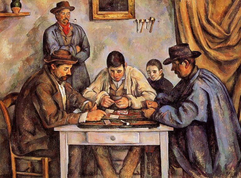 Cézanne's depiction of a happy, balanced simple life