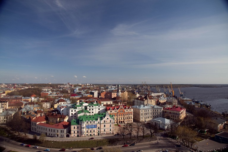 Vyborg from above
